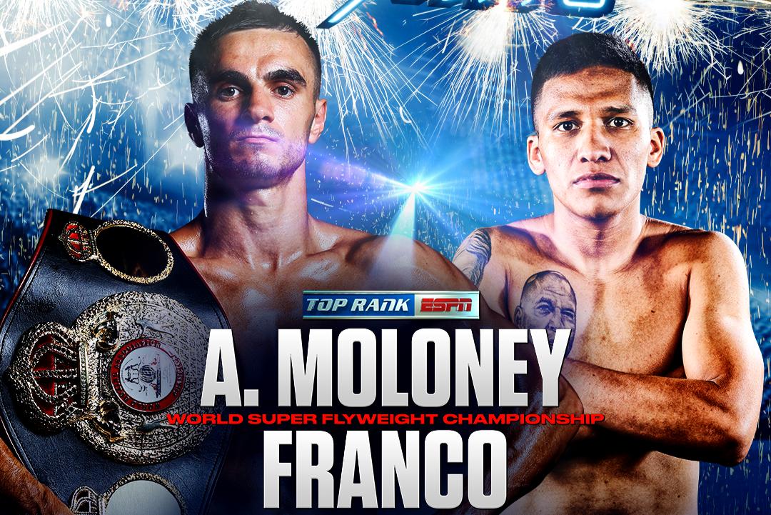 Moloney vs Franco. Image: Top Rank.