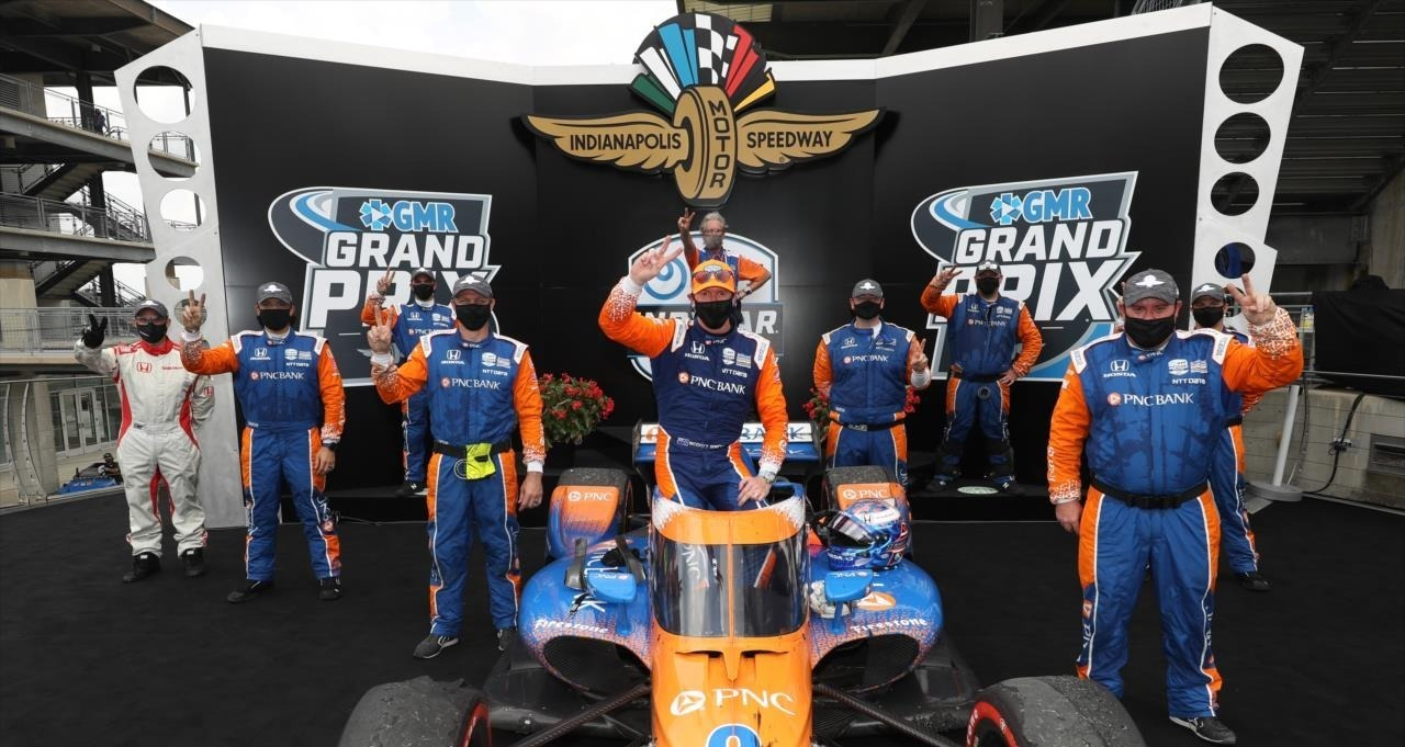 Scott Dixon winning the GMR Grand Prix. Photo: Scott Dixon, Facebook.