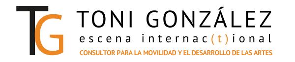 """Imagen: """"Toni Gonzalez - Escena Internacional"""". Consultor para la Movilidad y el Desarrollo de las Artes."""