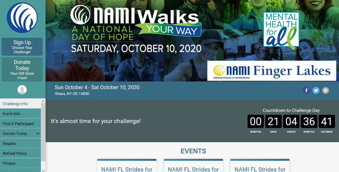 Thank you, NAMI FL Virtual Challenge participants!